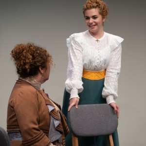A Doll's House, Part 2 production at Hudson Stage Company - Denise Bessette and Rachel Kent
