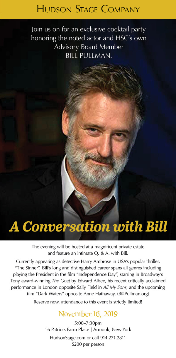 Hudson Stage Company's Fall Gala with Bill Pullman